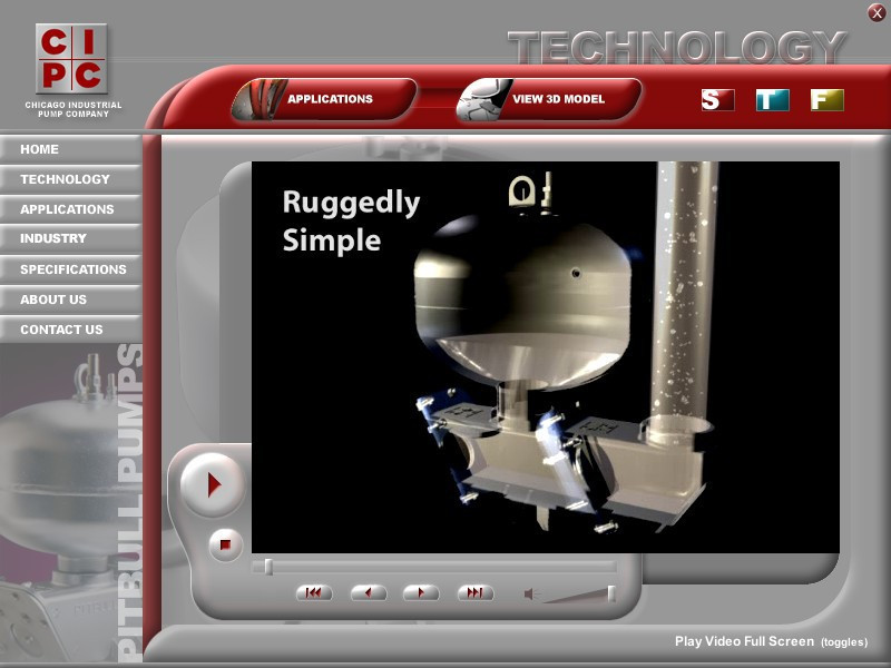 Interactive Multimedia & 3D Product Presentations - Pitbull Pumps Example by Chase-It Marketing - Click to Contact Chase-It Marketing today