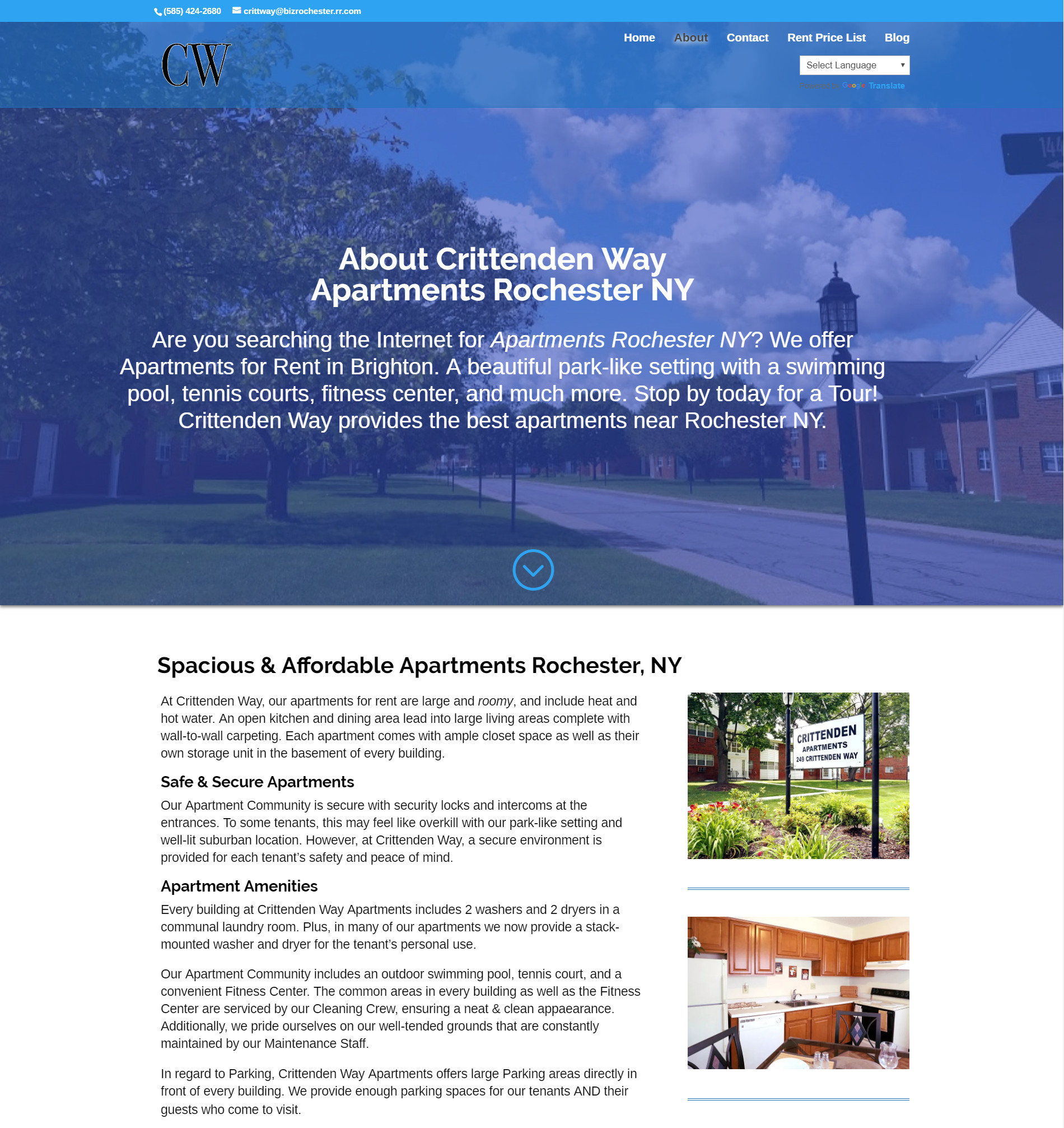 Click here to visit CrittendenWay.com to learn more about Crittenden Way Apartments Rochester, NY - Digital Marketing by Chase-It Marketing